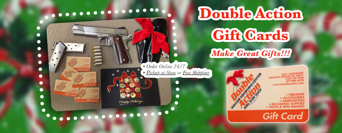 gift cards available at double action gun shop