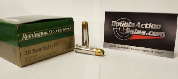 Remington 38 Special (+P) 125gr JHP Golden Saber (GS38SB)