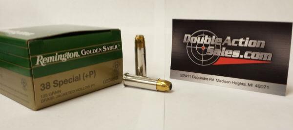 Remington 38 Special (+P) 125gr JHP Golden Saber (GS38SB)