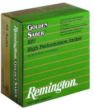 Remington 9MM 124gr JHP Golden Saber (GS9MMB)