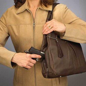 GTM-32 BRN Pleated Slouch Handbag