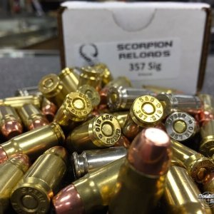 Scorpion Reloads .357 SIG Power Bond (125gr Reloads)