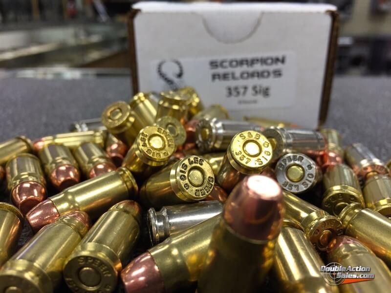 Scorpion Reloads .357 SIG Power Bond (125gr Reloads)