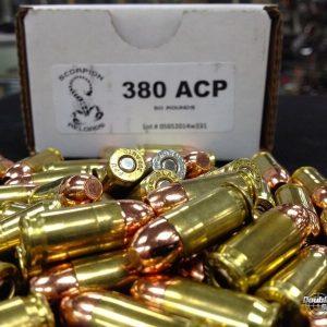 Scorpion Reloads .380 ACP RN (100gr Reloads)