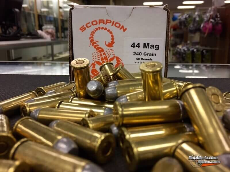 Scorpion Reloads .44 MAG RNFP | 240gr Reloads | 50 Rounds
