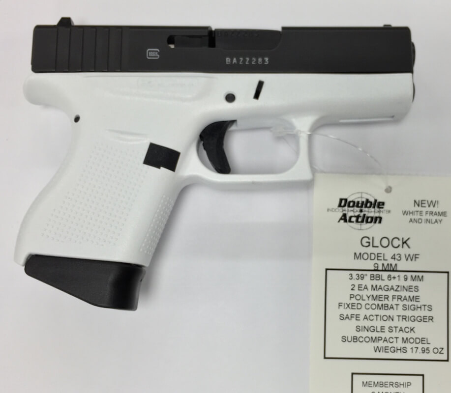 glock 43 white double action indoor shooting center gun shop