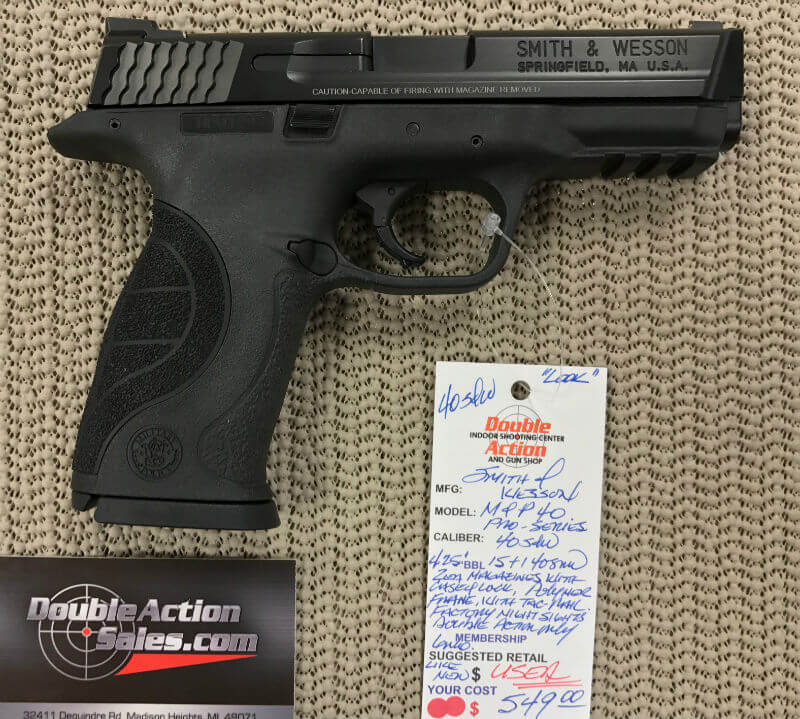 smith wesson m p40 pro series used double action indoor