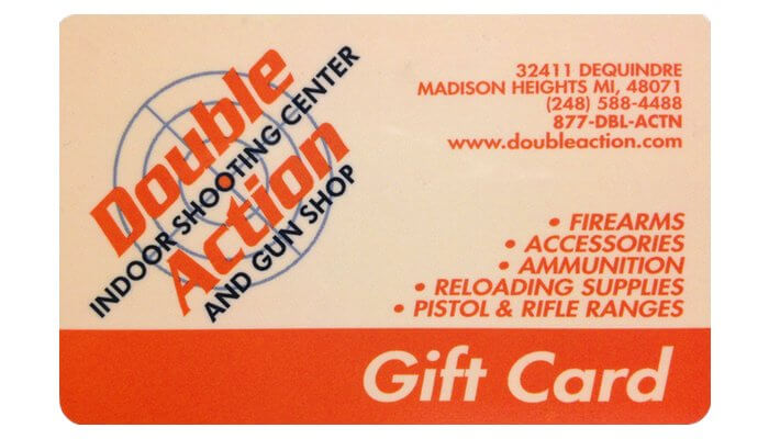 gift card for double action gun shop online and in store purchases