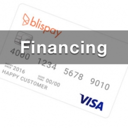 financing for firearms at double action gun shop pic of a blispay visa card with the text financing overlaid