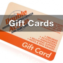 gift card forfirearms and gun supplies pic of double action gun shop gift card with text gift cards overlaid